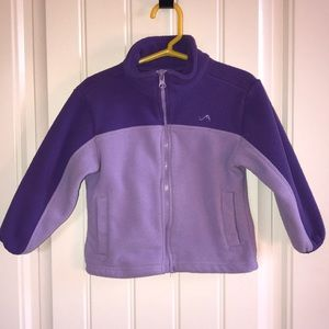 Two Toned Purple Zip Up Jacket